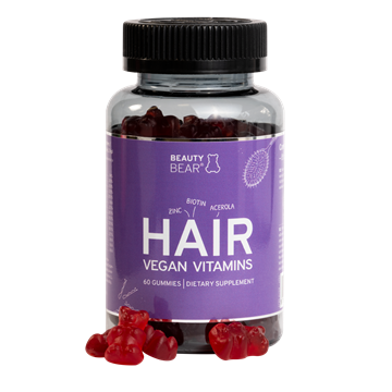 Picture of BeautyBear HAIR Vitamins Norwegian language